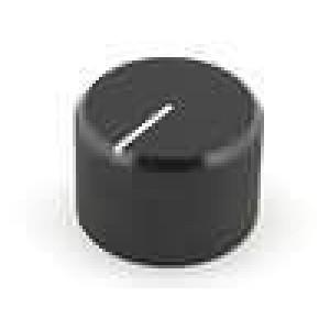 Knoflík s ukazatelem hliník pro hřídel 4mm Ø20x14mm černá
