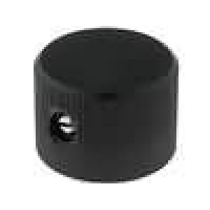 Knoflík bez ukazatele hliník pro hřídel 6mm Ø20x14mm černá
