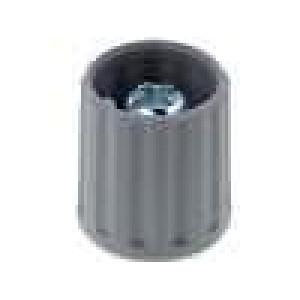 Knoflík polyamid pro hřídel 6mm šedá Ø:15mm -20-70°C