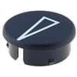 Víčko s ukazatelem polyamid černá použití pro knoflíky G21G