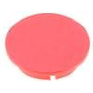 Víčko plast červená zatlačované pro G4312.6131