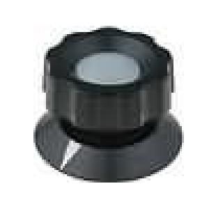 Knoflík s ukazatelem bakelit pro hřídel 6mm Ø50x35,5mm černá