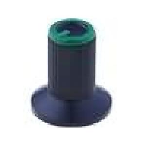 Knoflík s límcem plast pro hřídel 6mm Ø10x19mm černá