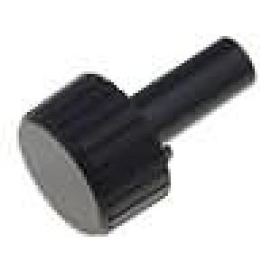 Knoflík bez ukazatele pro hřídel 6mm Ø22x12mm černá Hmax:35mm