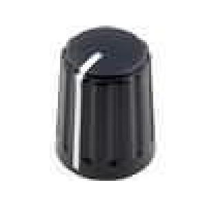 Knoflík kónická, s ukazatelem ABS pro hřídel 6mm Ø13,5x17,1mm