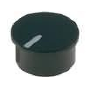 Víčko termoplast zatlačované Ukazatel bílá Víčko černá