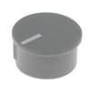 Víčko termoplast zatlačované Ukazatel bílá Víčko šedá
