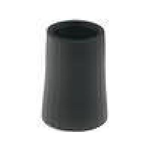 Knoflík kónická termoplast pro hřídel 6mm Ø12x17mm černá