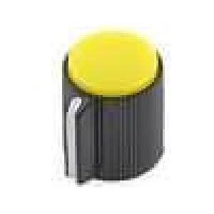 Knoflík s ukazatelem plast pro hřídel 6,35mm Ø13x15mm