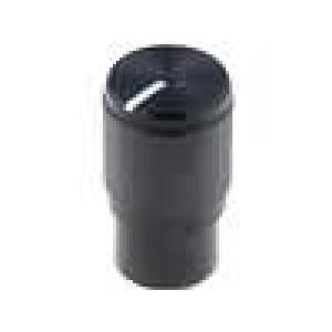 Knoflík s ukazatelem hliník, plast pro hřídel 6mm Ø10,7x19mm