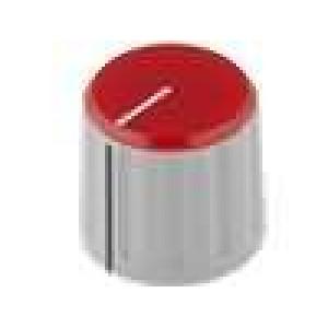 Knoflík s ukazatelem ABS pro hřídel 6mm Ø21,3x18,8mm šedá