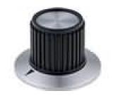 Knoflík s límcem plast pro hřídel 6mm Ø22,7x23mm hladký