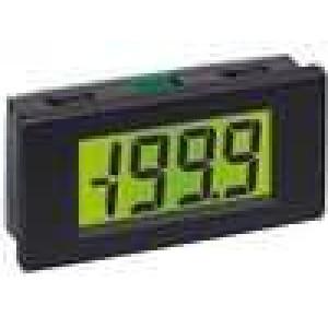Panelové měřidlo LCD 3,5místný 8,25 mm V DC:0-200mV