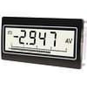 Panelové měřidlo LCD 3,75 digitů 11 mm Bargraf:40 segm.
