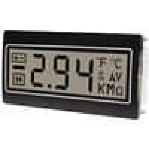 Panelové měřidlo LCD 3,5místný 10mm, bez podsvícení 48x24mm