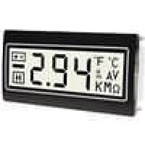 Panelové měřidlo LCD 3,5místný 10mm Barva podsv bílá