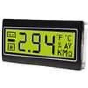 Panelové měřidlo LCD 3,5místný 14 mm Barva podsv