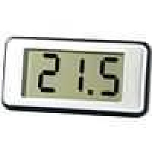 Panelové měřidlo LCD 12,5 mm V DC:4-25V 100mVDC Ø5,5mm