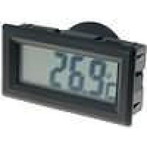 Panelové měřidlo LCD digit 13 mm -50-.70°C 28x52,5x15mm