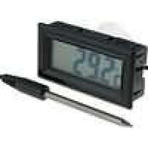Panelové měřidlo LCD digit 13 mm -50-.150°C Dél.sondy:45mm