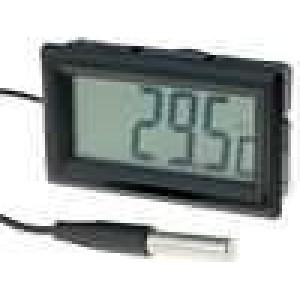 Panelové měřidlo LCD digit 19 mm -50-.70°C Dél.sondy:20mm