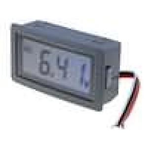 Panelové měřidlo LCD 3,5místný (1999) V DC:0-200mV 0,1mVDC