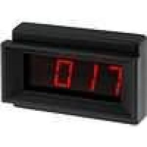 Panelové měřidlo LED 3,5místný 13 mm V DC:0-200mV 44x68x21mm