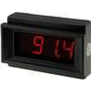 Panelové měřidlo LED 3,5místný 14 mm V DC:0-200mV 44x68x15mm