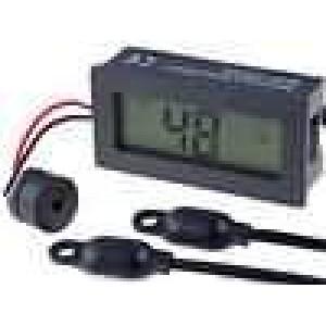 Panelové měřidlo LCD 3-místný -30-.69,9°C Rozliš:0,1°C