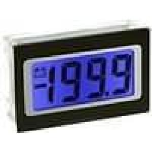 Panelové měřidlo LCD 3,5místný 9,75 mm V DC:0-200mV