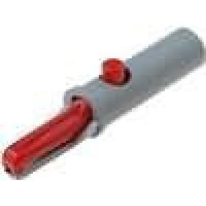 Krokosvorka 6A 60VDC červená - rozsah uchopení max 7,5mm