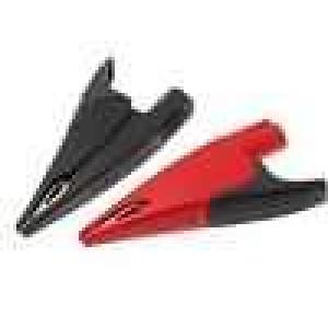 Krokosvorka 10A 1kVDC černá a červená Velikost zdířky:4mm