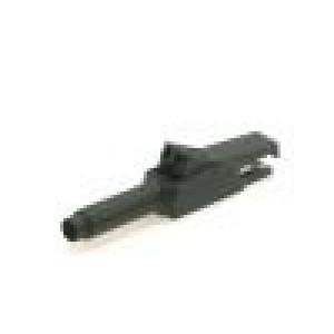 Krokosvorka 15A černá - rozsah uchopení max 6mm 300V