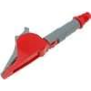 Krokosvorka 20A červená - rozsah uchopení max 41mm 1kV 20mΩ