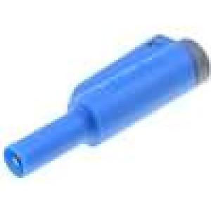 Zástrčka banánek 4mm 36A modrá 56mm 2,5mm2 1kV
