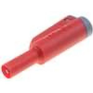 Zástrčka banánek 4mm 36A červená 56mm 2,5mm2 1kV