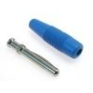 Zástrčka banánek 4mm 30A 60VDC modrá 3mΩ 2,5mm2 51mm