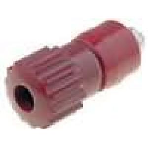 Zásuvka banánek 4mm 16A 60VDC červená niklovaný povrch