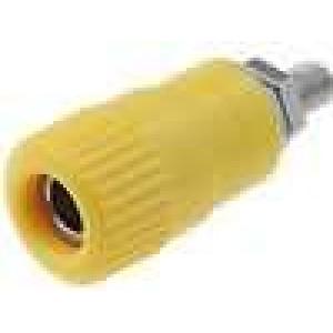 Zásuvka banánek 4mm 6A 60VDC průměr Ø6,2mm   1mΩ Lmax:33mm