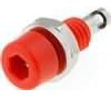 Zásuvka banánek 2mm 60VDC 10A délka 17mm červená 5mΩ