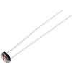 A906032 Fotorezistor 90mW 35kΩ 210kΩ 1000kΩ 600nm montáž THT 300VDC