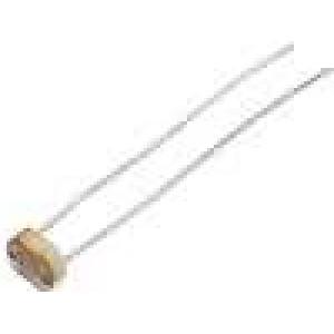 LDR07 Fotorezistor 100mW 50kΩ montáž THT 150VDC