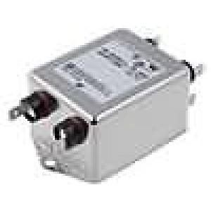 Filtr odrušovací 250VAC Iprac.max:10A konektor konektory 6,3mm