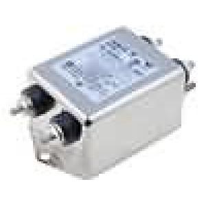 Filtr odrušovací 250VAC Iprac.max:10A konektor šroubové Ir:0,43mA