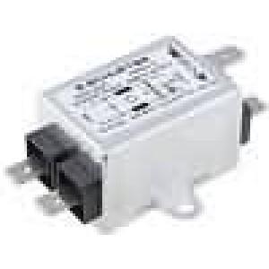 Filtr odrušovací 250VAC 0,8mH Cx:15nF Cy:2,2nF 6A -25-100°C