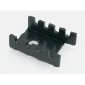 Chladič lisovaný U TO202,TO220 černá L:19,05mm W:13,21mm