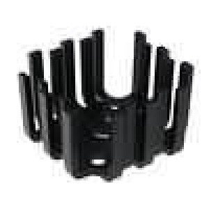 Chladič lisovaný SOT9,TO3,TO66 černá 45x45x25,4mm 6K/W