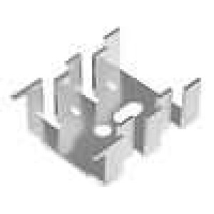 Chladič lisovaný SOT32,TO220 L:33mm W:25,4mm H:13mm 15K/W