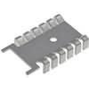 Chladič lisovaný SOT32 L:35,6mm W:22mm H:6,7mm 21K/W