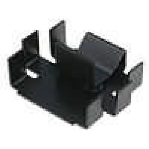 Chladič lisovaný TO220 černá L:20,5mm W:25mm H:7mm 25K/W